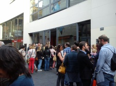 Queuing to get in!!