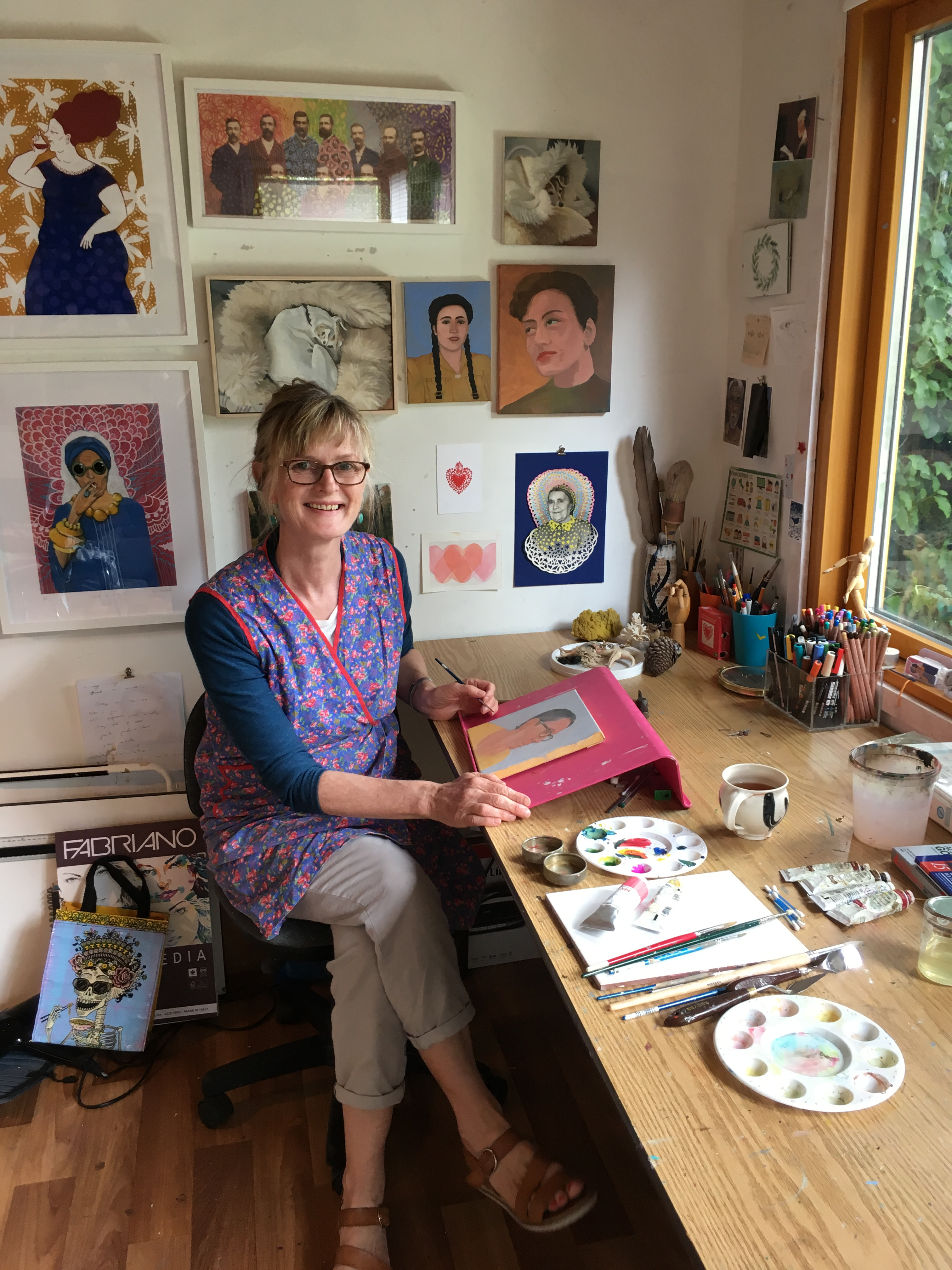 Liz Rackard in her Dublin Studio